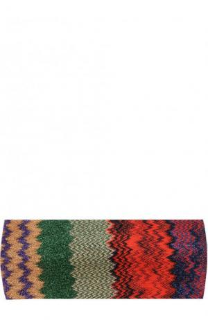 Вязаная повязка Missoni. Цвет: разноцветный