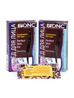 Лед Освежающий, набор из 2 шт (2х10х10мл) и Маска для проблемной кожи (15мл) DNC. Цвет: прозрачный, светло-желтый