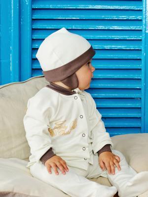 Кофточка Lucky Child. Цвет: молочный, коричневый
