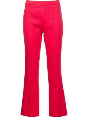 Укороченные расклешенные брюки Giambattista Valli. Цвет: красный