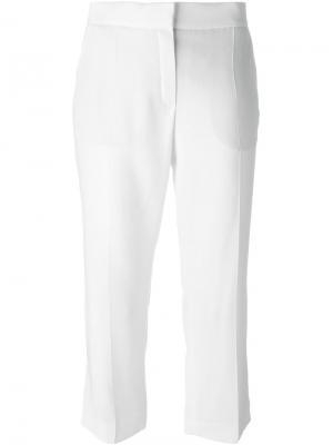 Укороченные брюки Lanvin. Цвет: белый
