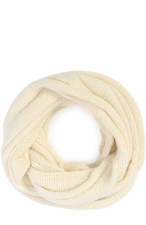 Шерстяной шарф-снуд Lost&Found. Цвет: белый