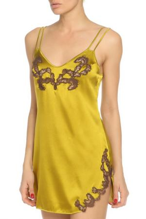 Шелковая сорочка Cotton Club. Цвет: хаки, коричневый