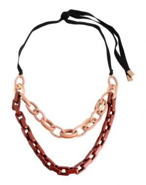 Ожерелье ERIKA CAVALLINI. Цвет: красно-коричневый