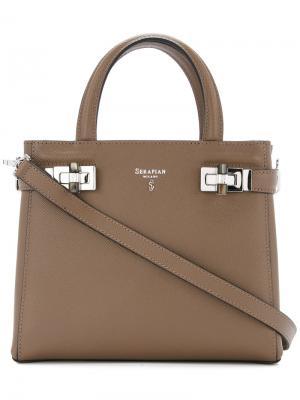 Мини-сумка Meline Serapian. Цвет: коричневый