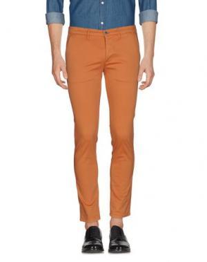 Повседневные брюки 0/ZERO CONSTRUCTION. Цвет: оранжевый