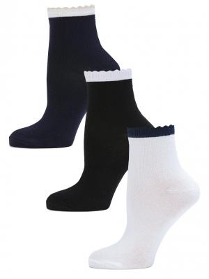 Носки LARMINI. Цвет: черный, белый, темно-синий