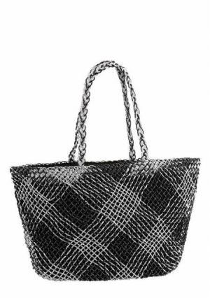 Пляжная сумка. Цвет: черный/серебристый