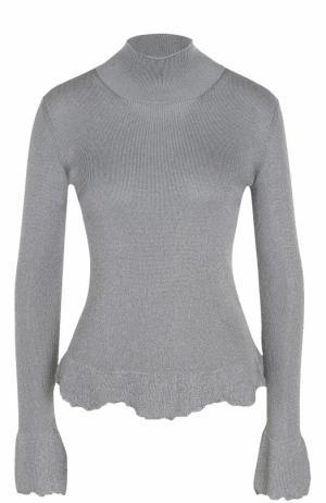 Приталенный свитер с высоким воротником MRZ. Цвет: серый