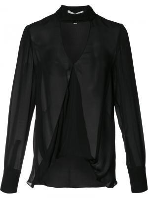 Блузка с глубоким V-образным вырезом Derek Lam 10 Crosby. Цвет: чёрный