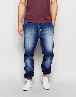 Loyalty & Faith Выбеленные джинсы-джоггеры. Цвет: синий