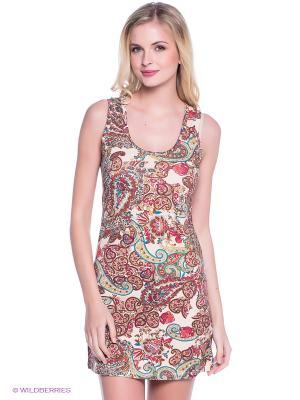 Ночная сорочка Alla Buone. Цвет: молочный, малиновый