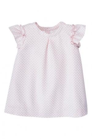 Жаккардовое розовое платье ADELINE Bonpoint. Цвет: розовый