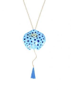 Ожерелье NACH. Цвет: небесно-голубой