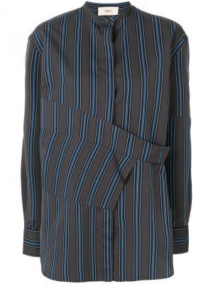 Рубашка с запахом и длинными рукавами Ports 1961. Цвет: серый