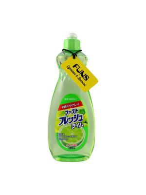 Жидкость для мытья посуды FUNS свежий лайм 600 мл. Цвет: белый