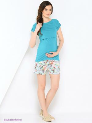 Шорты для беременных Nuova Vita. Цвет: голубой