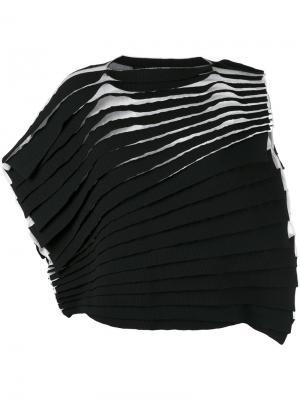 Ярусная футболка Junya Watanabe Comme Des Garçons. Цвет: чёрный