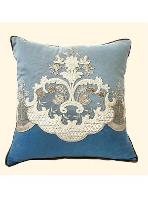 Декоративная подушка Ольфира РЮШАЛЬ. Цвет: голубой