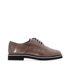Ботинки-дерби кожаные ANNE WEYBURN. Цвет: серо-коричневый