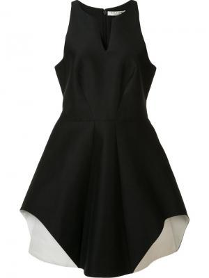 Приталенное платье без рукавов Halston Heritage. Цвет: чёрный