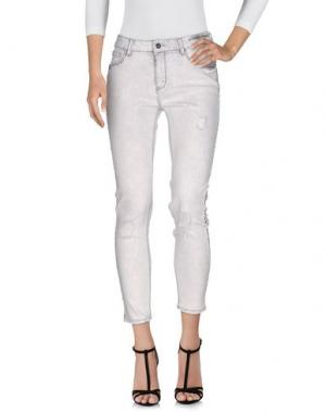 Джинсовые брюки KORALLINE. Цвет: светло-серый