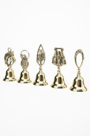 Набор колокольчиков 5 шт. Stilars. Цвет: золотой