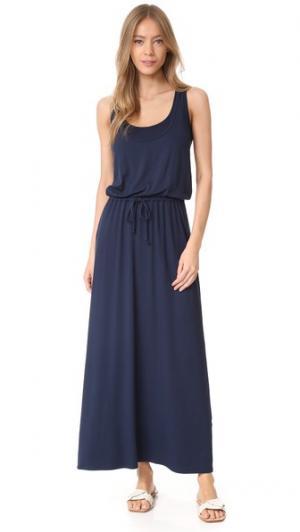 Макси-платье без рукавов с завязками Three Dots. Цвет: ночной ирис
