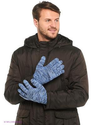 Перчатки Milana Style. Цвет: голубой, черный