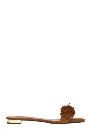 Замшевые сандалии Wild Thing Aquazzura. Цвет: коричневый