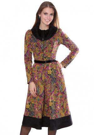 Платье Olivegrey. Цвет: желтый