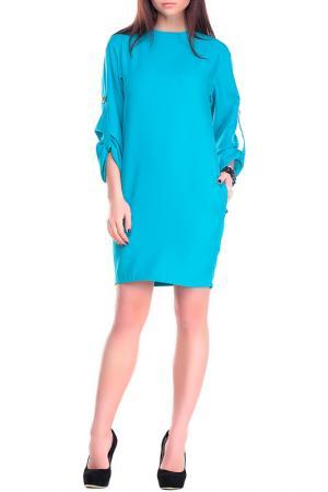 Платье Dioni. Цвет: бирюзовый