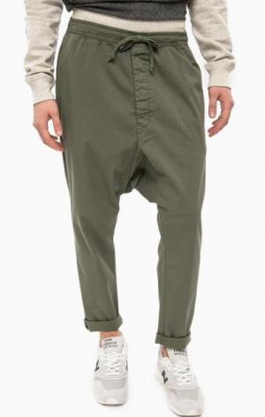 Зауженные брюки цвета хаки ALCOTT. Цвет: хаки
