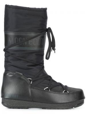 Мягкие сапоги Moon Boot. Цвет: чёрный