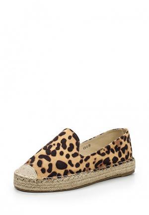 Эспадрильи WS Shoes. Цвет: коричневый