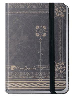 Еженедельник  A6 ,шелковая твердая обложка, 100листов, LesB Pierre Cardin. Цвет: серый