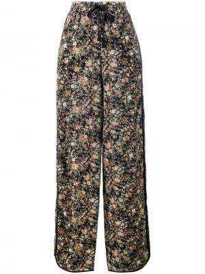 Пижамный брюки с цветочным принтом Adam Lippes. Цвет: многоцветный