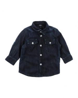 Джинсовая рубашка BOSS. Цвет: синий