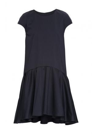 Платье из хлопка 164343 Anna Dubovitskaya. Цвет: черный