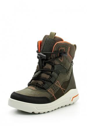 Ботинки Ecco. Цвет: хаки