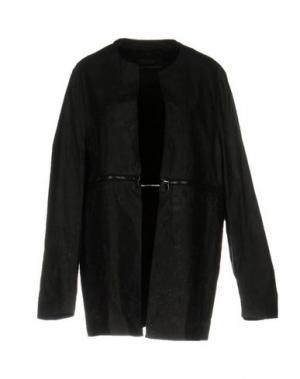 Легкое пальто BAD SPIRIT. Цвет: стальной серый