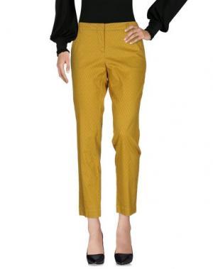 Повседневные брюки MALÌPARMI. Цвет: охра