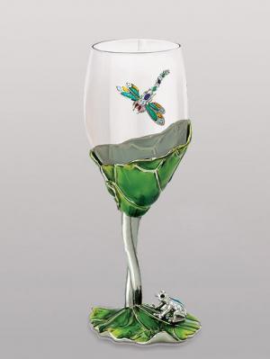 Бокал для вина Win. Цвет: зеленый