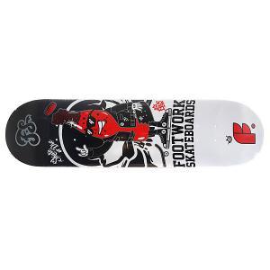 Дека для скейтборда  Original Rocky 31.6 x 8 (20.3 см) Footwork. Цвет: черный,белый,красный