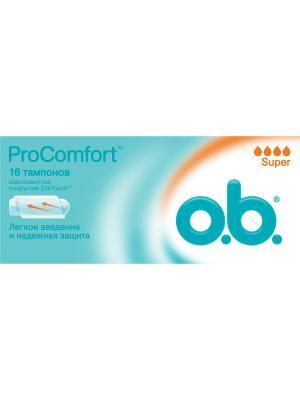 Тампоны ProComfort супер 16шт o.b.. Цвет: белый