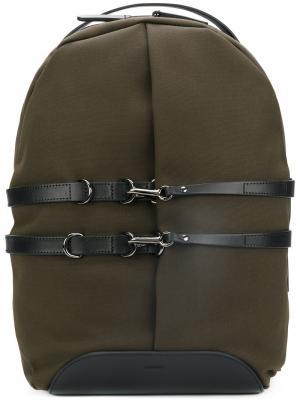 Рюкзак с контрастными ремешками Mismo. Цвет: зелёный