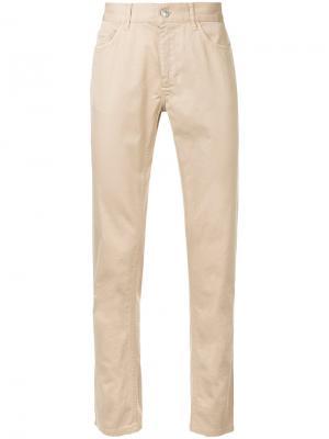 Прямые джинсы Cerruti 1881. Цвет: коричневый