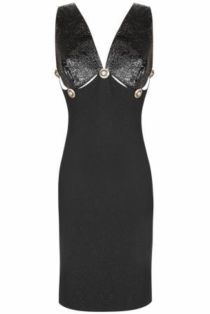 Шерстяное  платье (90-е) Gianni Versace Vintage. Цвет: черный