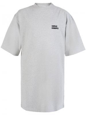 Свободная футболка Vetements. Цвет: многоцветный