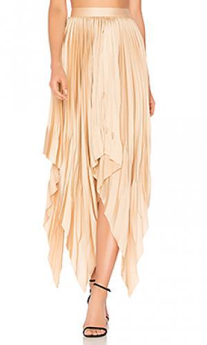Плиссированная юбка cedar Acler. Цвет: персиковый